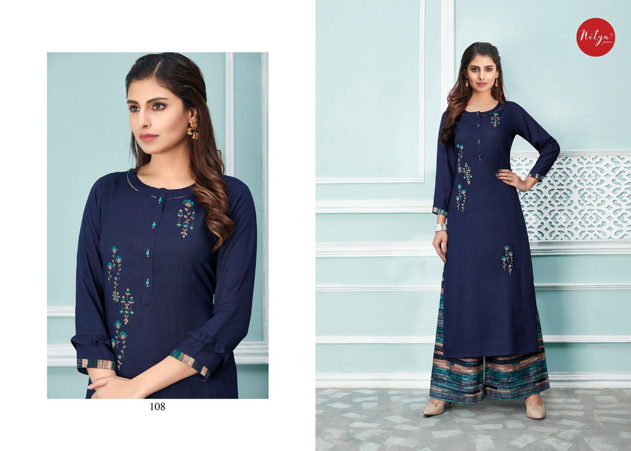 Lt Fabrics Nitya Glory Kurti with Palazzo Pant Wholesale Catalog 8 Pcs 11 - Lt Fabrics Nitya Glory Kurti with Palazzo Pant Wholesale Catalog 8 Pcs