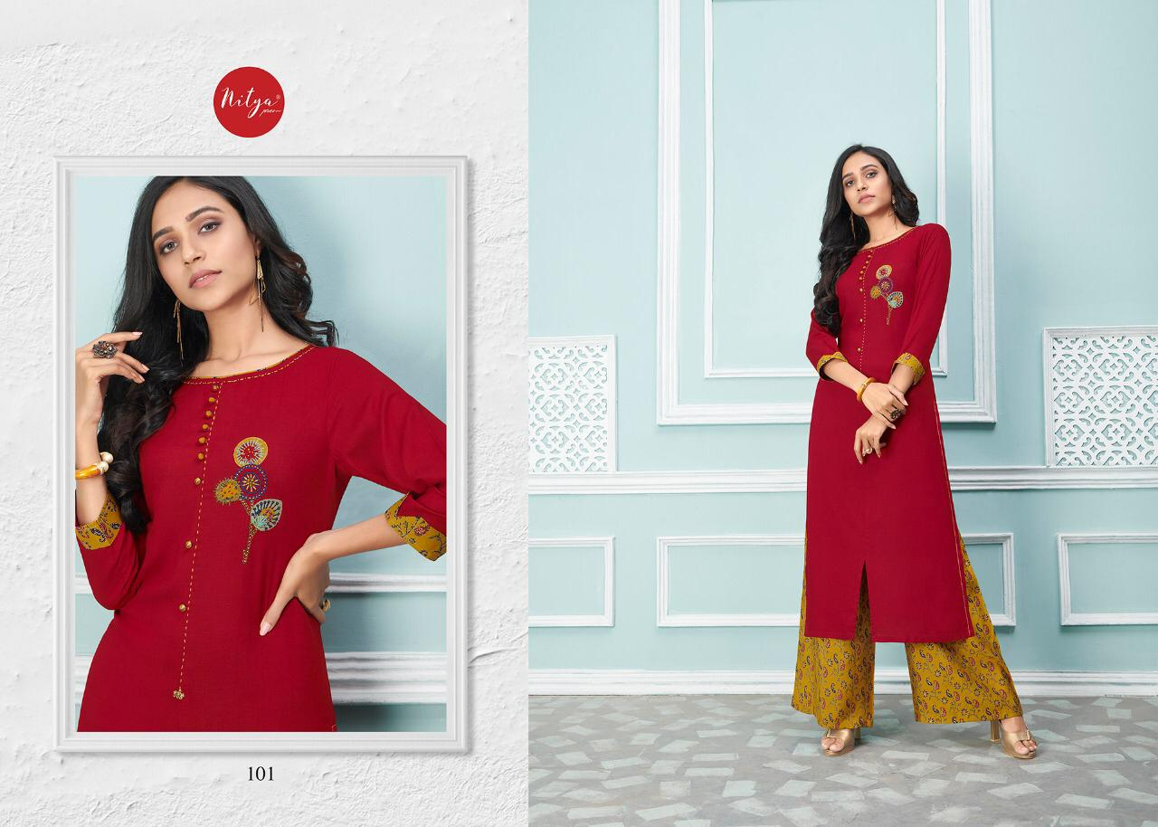 Lt Fabrics Nitya Glory Kurti with Palazzo Pant Wholesale Catalog 8 Pcs 2 - Lt Fabrics Nitya Glory Kurti with Palazzo Pant Wholesale Catalog 8 Pcs