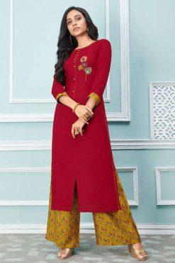 Lt Fabrics Nitya Glory Kurti with Palazzo Pant Wholesale Catalog 8 Pcs
