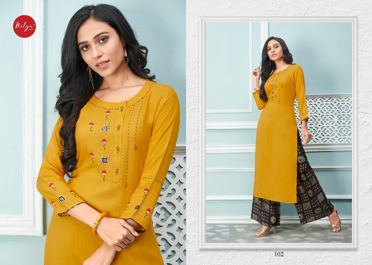 Lt Fabrics Nitya Glory Kurti with Palazzo Pant Wholesale Catalog 8 Pcs 3 - Lt Fabrics Nitya Glory Kurti with Palazzo Pant Wholesale Catalog 8 Pcs