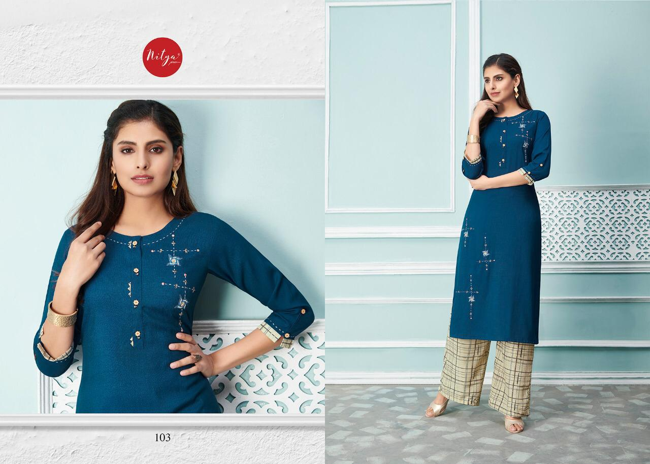 Lt Fabrics Nitya Glory Kurti with Palazzo Pant Wholesale Catalog 8 Pcs 4 - Lt Fabrics Nitya Glory Kurti with Palazzo Pant Wholesale Catalog 8 Pcs