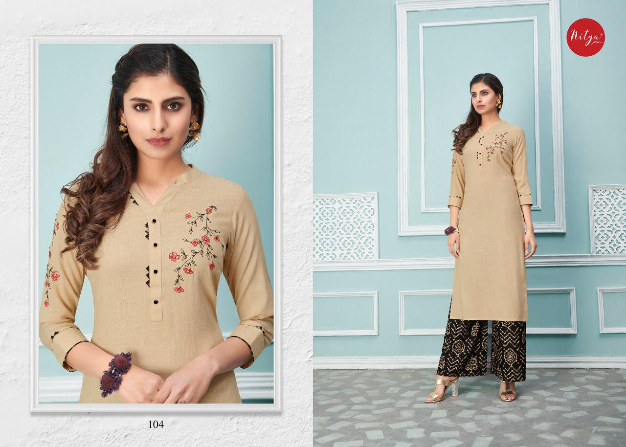 Lt Fabrics Nitya Glory Kurti with Palazzo Pant Wholesale Catalog 8 Pcs 5 - Lt Fabrics Nitya Glory Kurti with Palazzo Pant Wholesale Catalog 8 Pcs