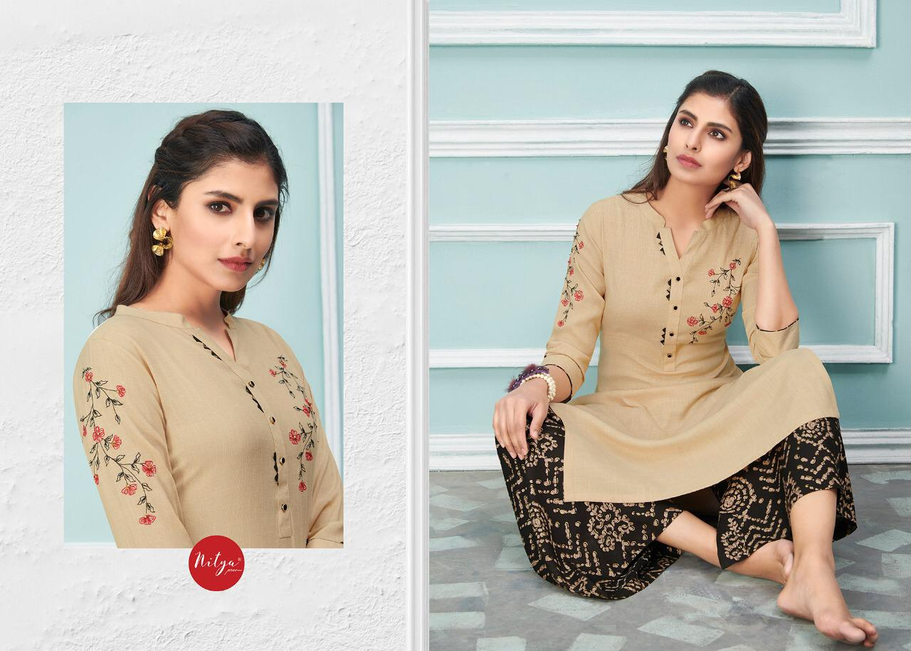Lt Fabrics Nitya Glory Kurti with Palazzo Pant Wholesale Catalog 8 Pcs 6 - Lt Fabrics Nitya Glory Kurti with Palazzo Pant Wholesale Catalog 8 Pcs