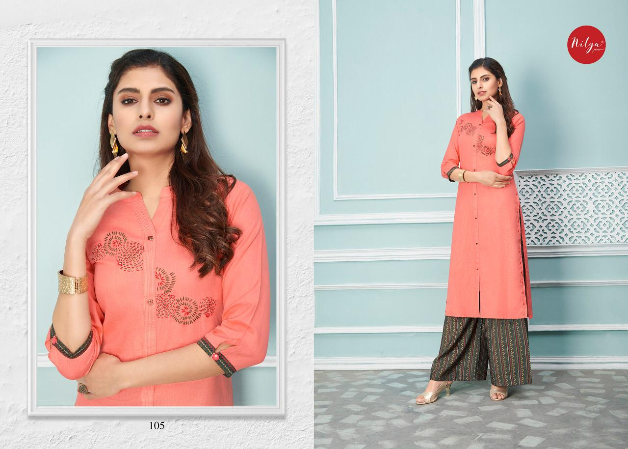 Lt Fabrics Nitya Glory Kurti with Palazzo Pant Wholesale Catalog 8 Pcs 7 - Lt Fabrics Nitya Glory Kurti with Palazzo Pant Wholesale Catalog 8 Pcs