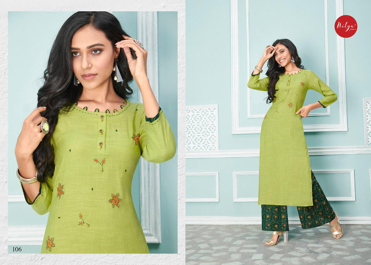Lt Fabrics Nitya Glory Kurti with Palazzo Pant Wholesale Catalog 8 Pcs 8 - Lt Fabrics Nitya Glory Kurti with Palazzo Pant Wholesale Catalog 8 Pcs