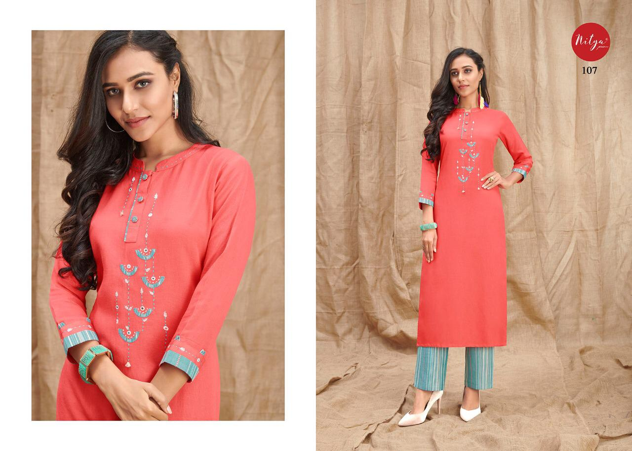 Lt Fabrics Nitya Melody Kurti with Palazzo Wholesale Catalog 8 Pcs 10 - Lt Fabrics Nitya Melody Kurti with Palazzo Wholesale Catalog 8 Pcs