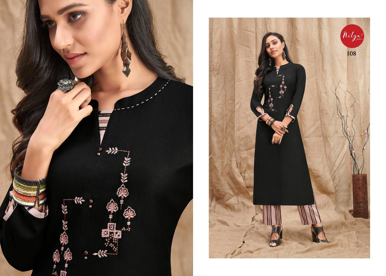 Lt Fabrics Nitya Melody Kurti with Palazzo Wholesale Catalog 8 Pcs 11 - Lt Fabrics Nitya Melody Kurti with Palazzo Wholesale Catalog 8 Pcs