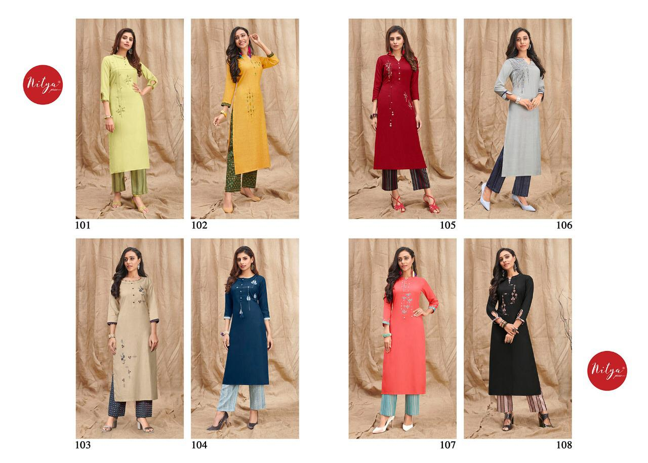 Lt Fabrics Nitya Melody Kurti with Palazzo Wholesale Catalog 8 Pcs 12 - Lt Fabrics Nitya Melody Kurti with Palazzo Wholesale Catalog 8 Pcs