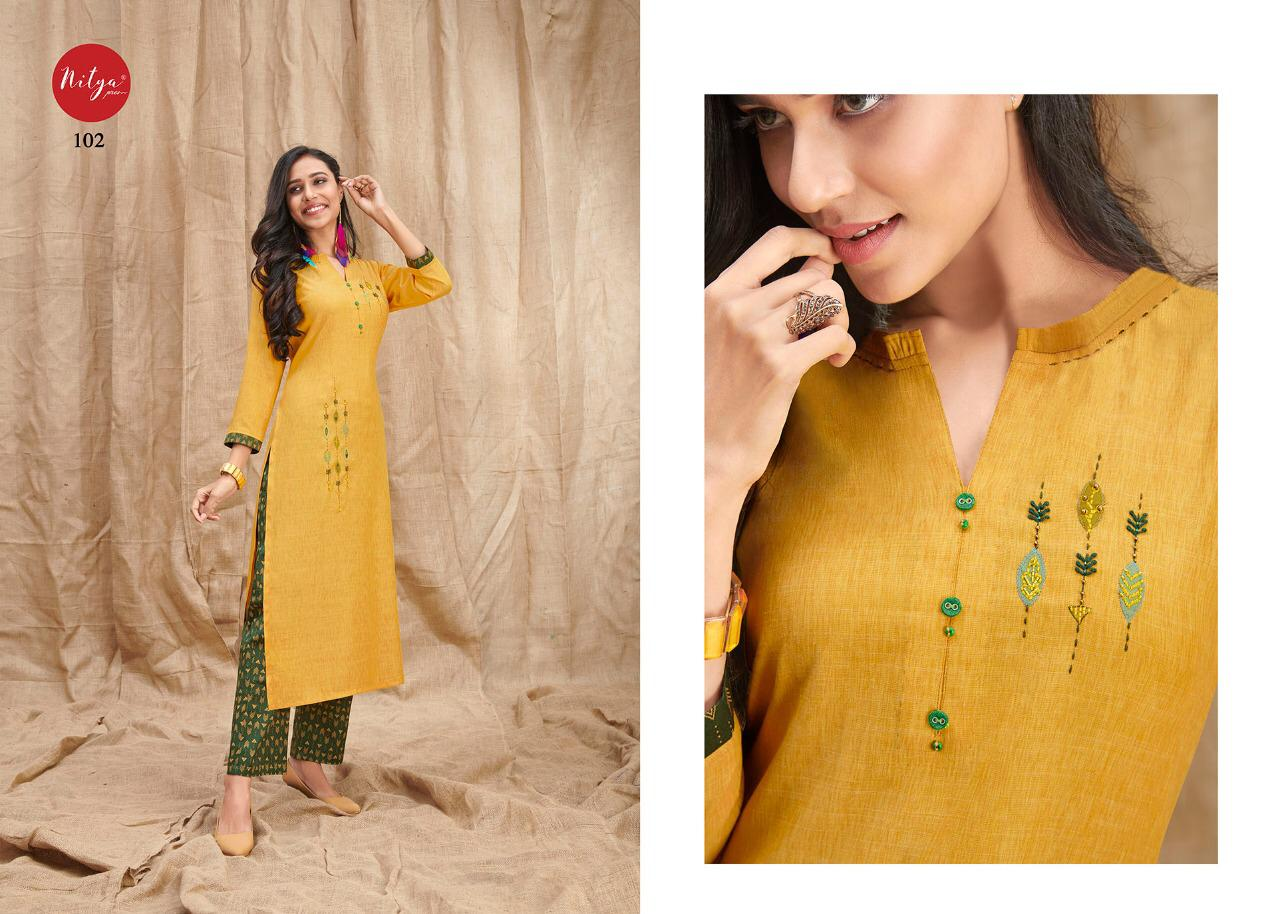 Lt Fabrics Nitya Melody Kurti with Palazzo Wholesale Catalog 8 Pcs 2 - Lt Fabrics Nitya Melody Kurti with Palazzo Wholesale Catalog 8 Pcs