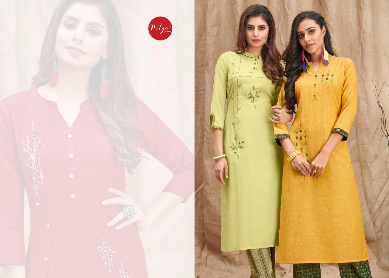 Lt Fabrics Nitya Melody Kurti with Palazzo Wholesale Catalog 8 Pcs 3 - Lt Fabrics Nitya Melody Kurti with Palazzo Wholesale Catalog 8 Pcs