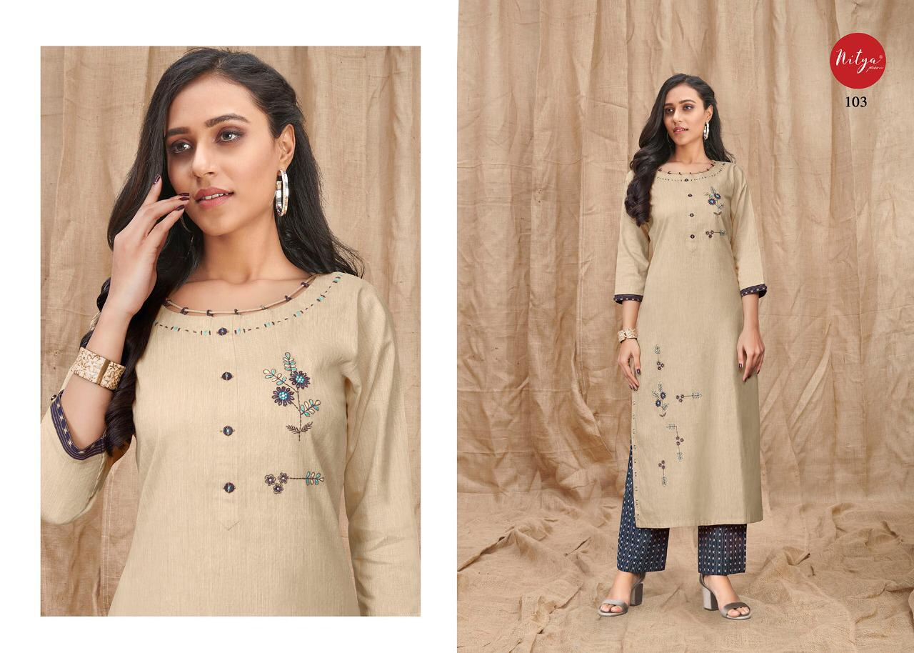 Lt Fabrics Nitya Melody Kurti with Palazzo Wholesale Catalog 8 Pcs 4 - Lt Fabrics Nitya Melody Kurti with Palazzo Wholesale Catalog 8 Pcs