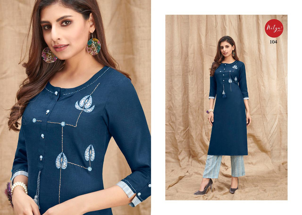 Lt Fabrics Nitya Melody Kurti with Palazzo Wholesale Catalog 8 Pcs 5 - Lt Fabrics Nitya Melody Kurti with Palazzo Wholesale Catalog 8 Pcs