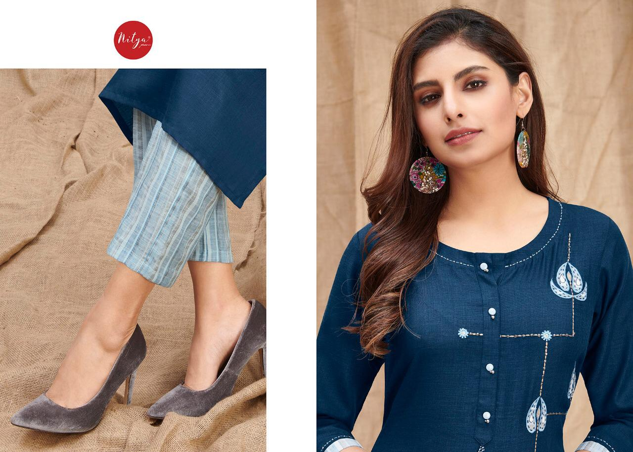 Lt Fabrics Nitya Melody Kurti with Palazzo Wholesale Catalog 8 Pcs 6 - Lt Fabrics Nitya Melody Kurti with Palazzo Wholesale Catalog 8 Pcs