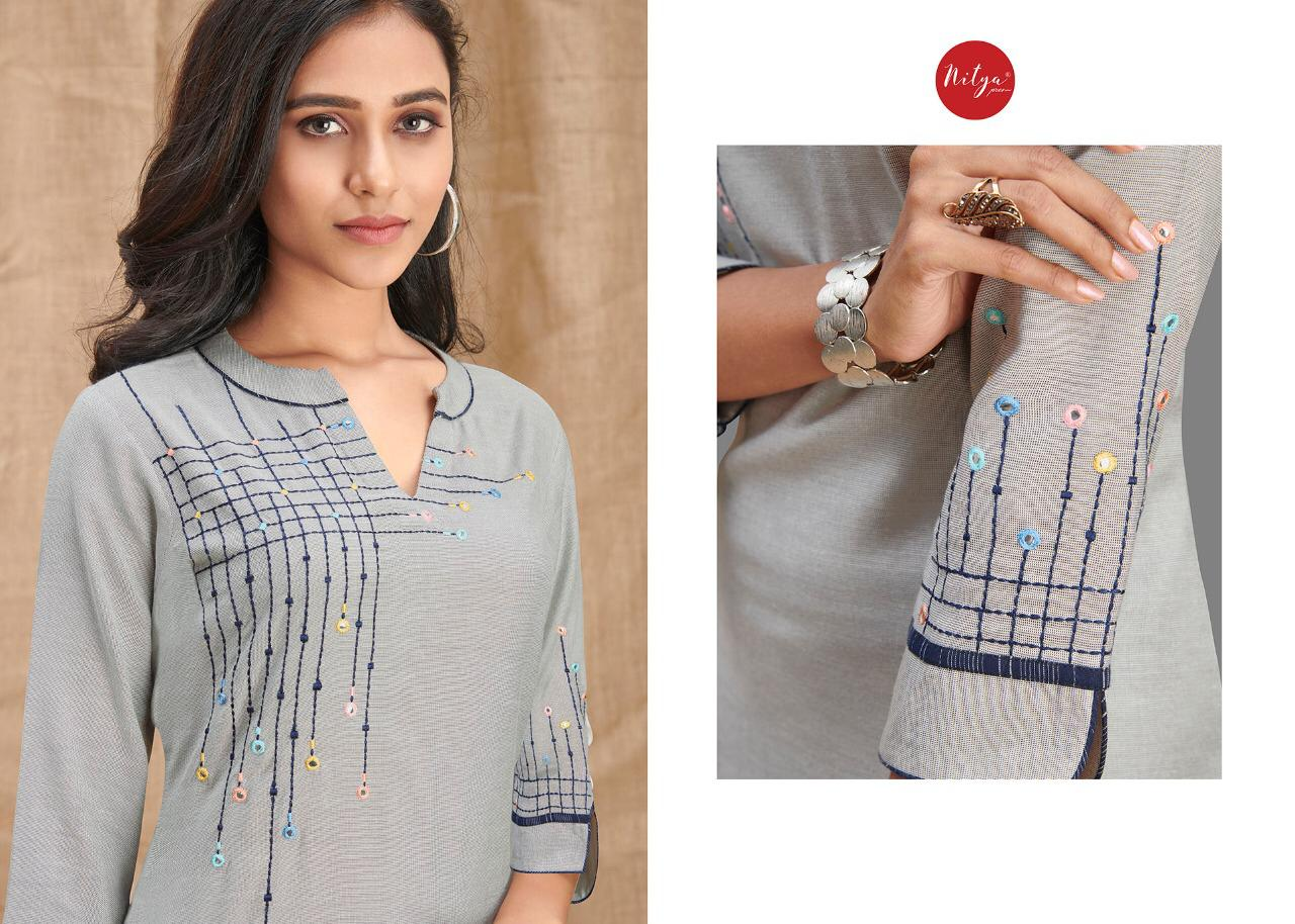 Lt Fabrics Nitya Melody Kurti with Palazzo Wholesale Catalog 8 Pcs 8 - Lt Fabrics Nitya Melody Kurti with Palazzo Wholesale Catalog 8 Pcs