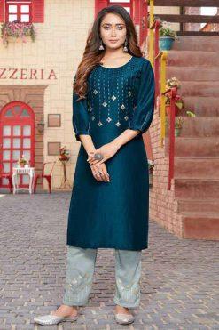 Luxuria Sitara Kurti with Pant Wholesale Catalog 5 Pcs