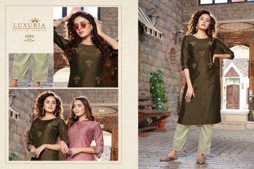 Luxuria Sitara Kurti with Pant Wholesale Catalog 5 Pcs 3 510x340 - Luxuria Sitara Kurti with Pant Wholesale Catalog 5 Pcs