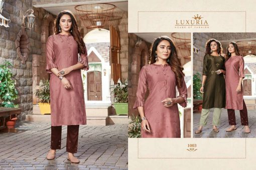 Luxuria Sitara Kurti with Pant Wholesale Catalog 5 Pcs 4 510x340 - Luxuria Sitara Kurti with Pant Wholesale Catalog 5 Pcs