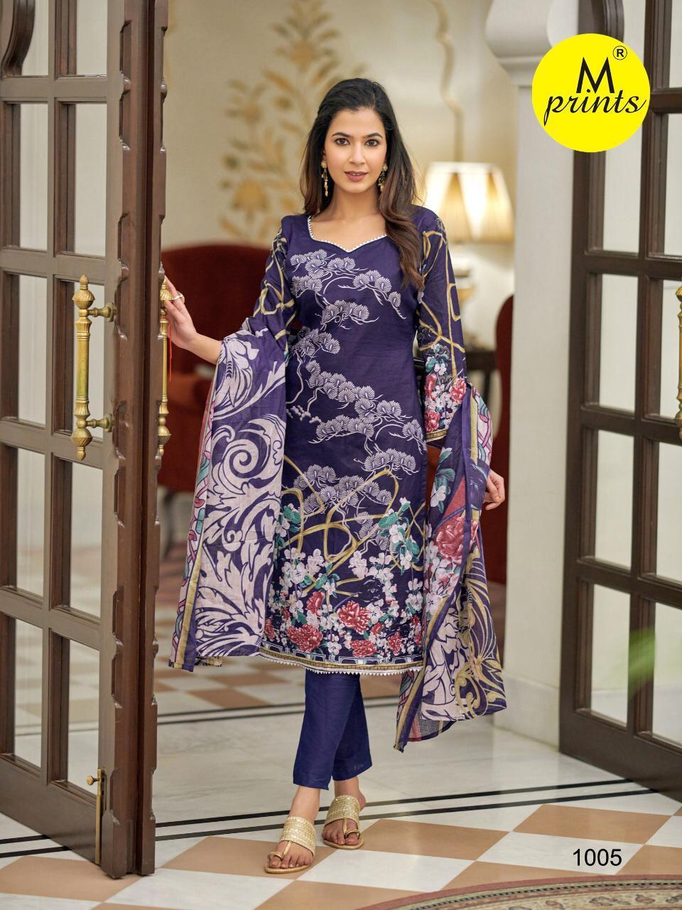 M Prints Vol 4 Salwar Suit Wholesale Catalog 10 Pcs 1 - M Prints Vol 4 Salwar Suit Wholesale Catalog 10 Pcs