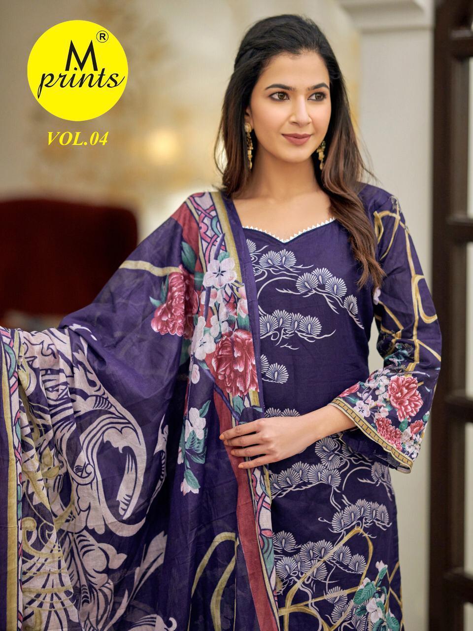 M Prints Vol 4 Salwar Suit Wholesale Catalog 10 Pcs 4 - M Prints Vol 4 Salwar Suit Wholesale Catalog 10 Pcs