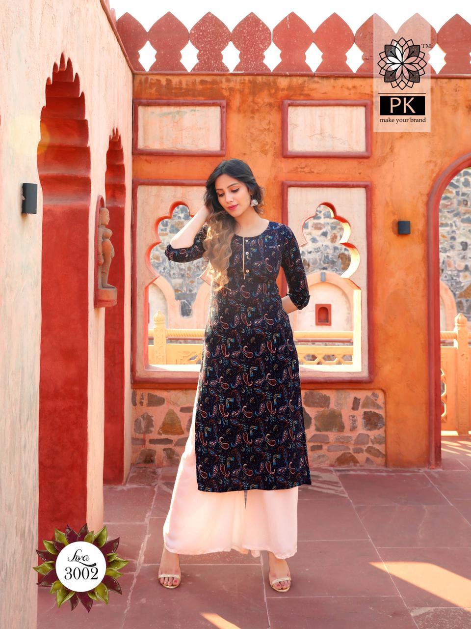 Pk Fashion Liva Vol 3 Kurti Wholesale Catalog 13 Pcs 14 - Pk Fashion Liva Vol 3 Kurti Wholesale Catalog 13 Pcs