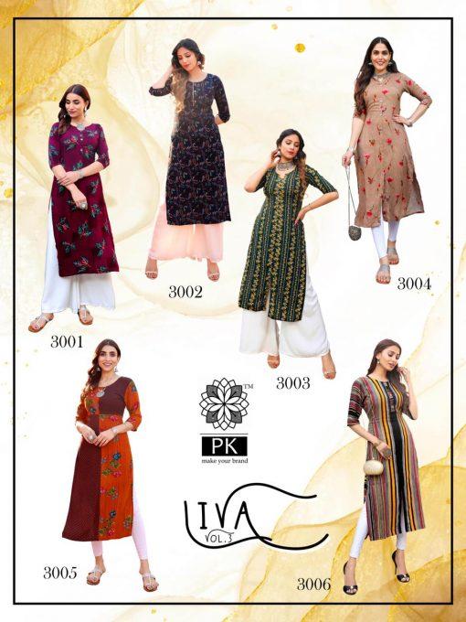 Pk Fashion Liva Vol 3 Kurti Wholesale Catalog 13 Pcs 17 510x680 - Pk Fashion Liva Vol 3 Kurti Wholesale Catalog 13 Pcs