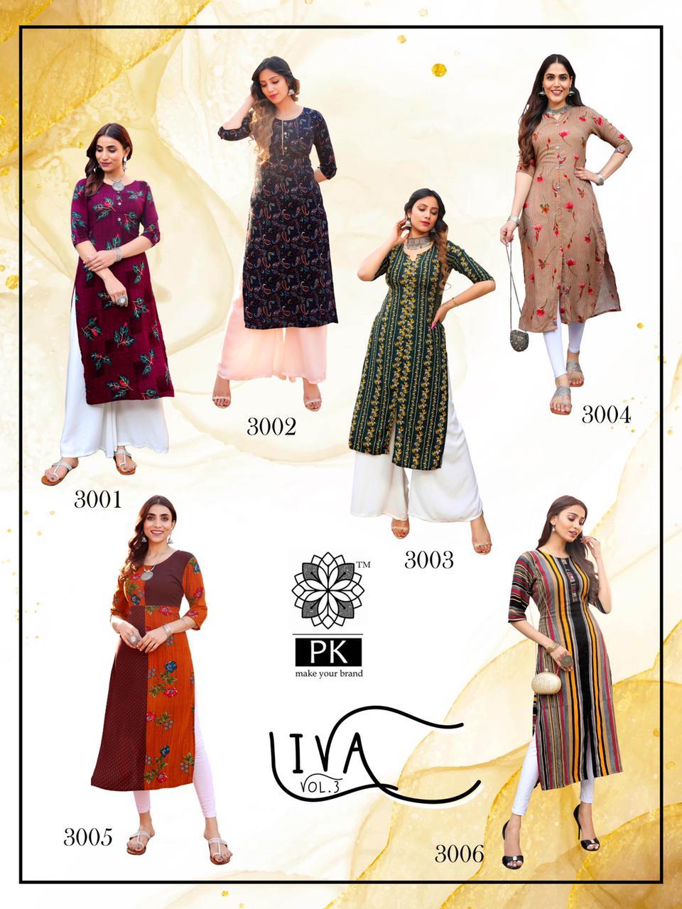 Pk Fashion Liva Vol 3 Kurti Wholesale Catalog 13 Pcs 17 - Pk Fashion Liva Vol 3 Kurti Wholesale Catalog 13 Pcs