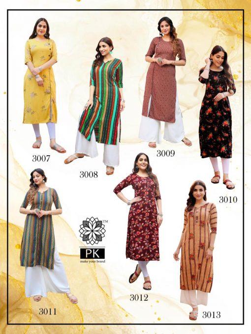 Pk Fashion Liva Vol 3 Kurti Wholesale Catalog 13 Pcs 18 510x680 - Pk Fashion Liva Vol 3 Kurti Wholesale Catalog 13 Pcs