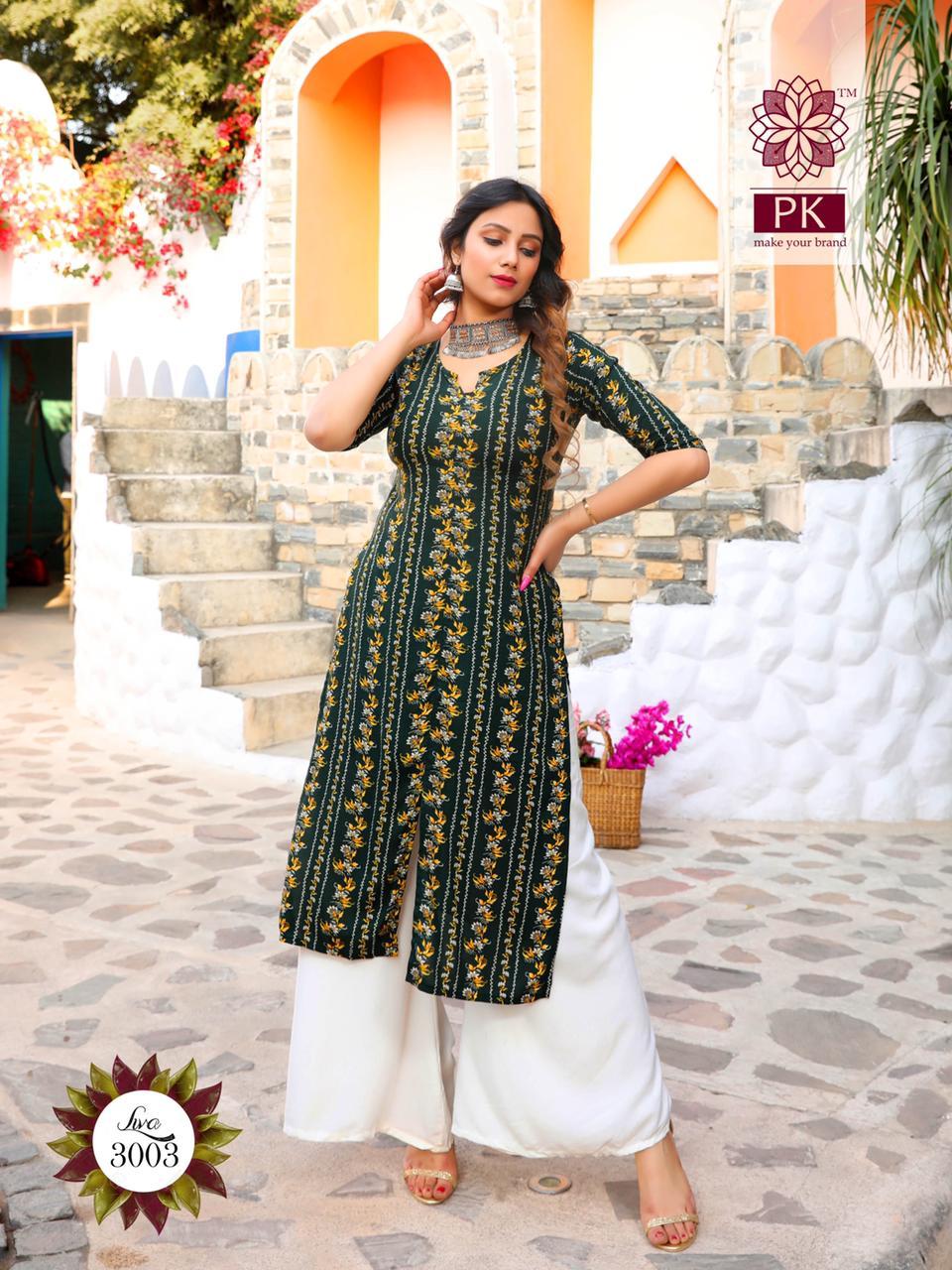 Pk Fashion Liva Vol 3 Kurti Wholesale Catalog 13 Pcs 2 - Pk Fashion Liva Vol 3 Kurti Wholesale Catalog 13 Pcs