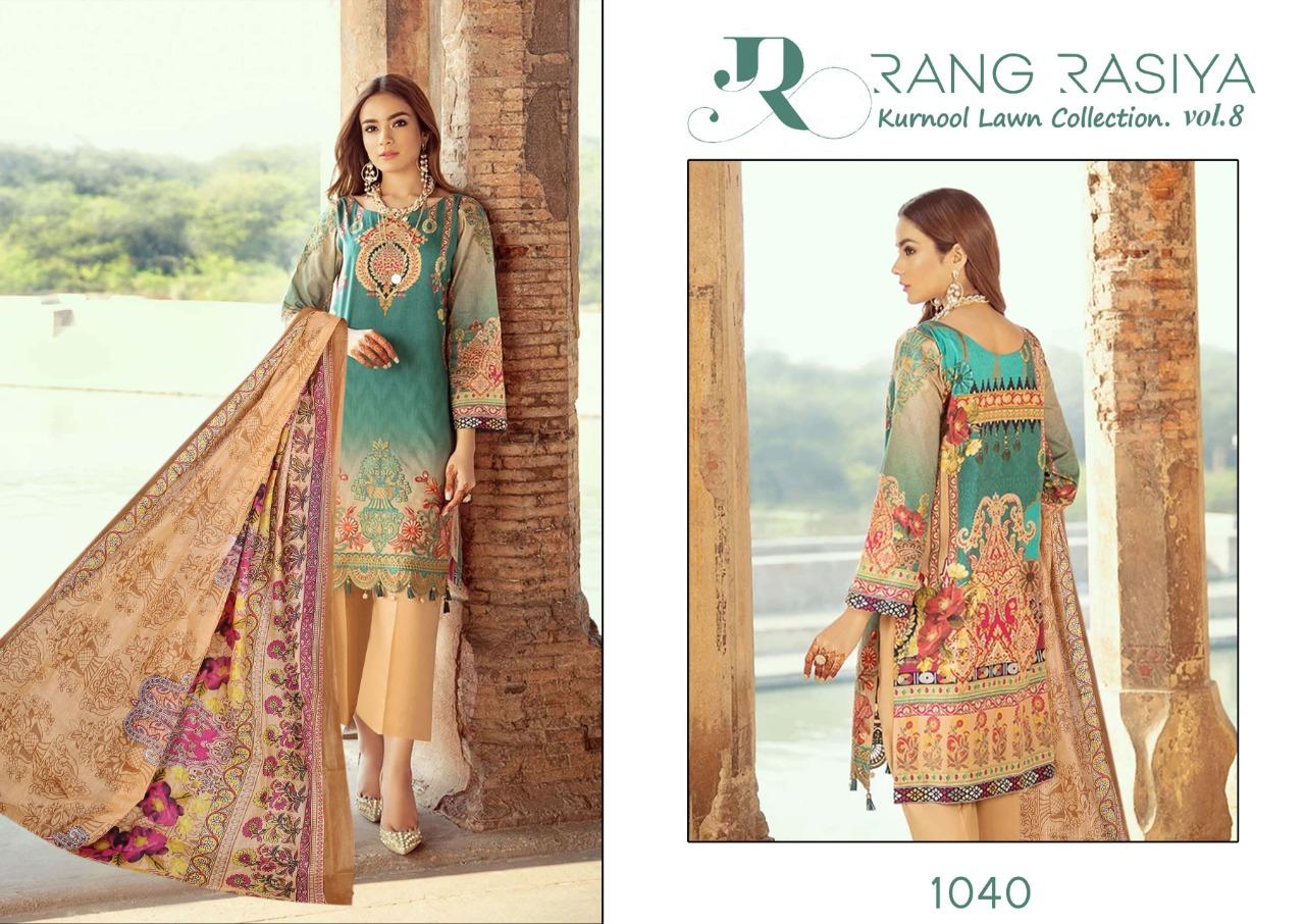 Rang Rasiya Kurnool Lawn Collection Vol 8 Salwar Suit Wholesale Catalog 4 Pcs 2 - Rang Rasiya Kurnool Lawn Collection Vol 8 Salwar Suit Wholesale Catalog 4 Pcs
