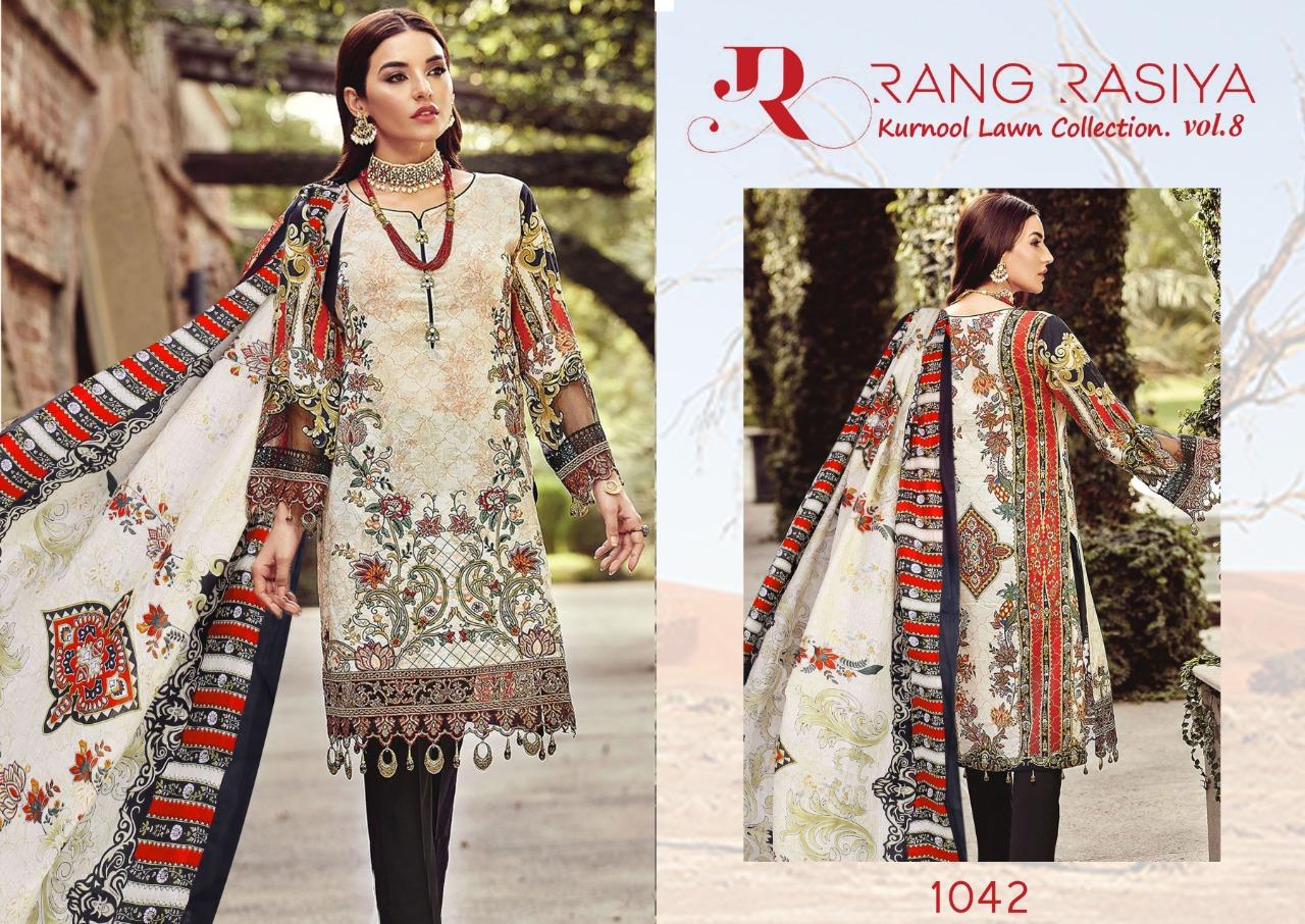 Rang Rasiya Kurnool Lawn Collection Vol 8 Salwar Suit Wholesale Catalog 4 Pcs 3 - Rang Rasiya Kurnool Lawn Collection Vol 8 Salwar Suit Wholesale Catalog 4 Pcs