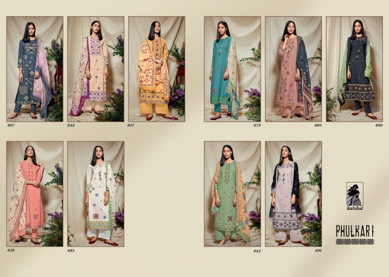 Sahiba Phulkari Salwar Suit Wholesale Catalog 10 Pcs 13 - Sahiba Phulkari Salwar Suit Wholesale Catalog 10 Pcs