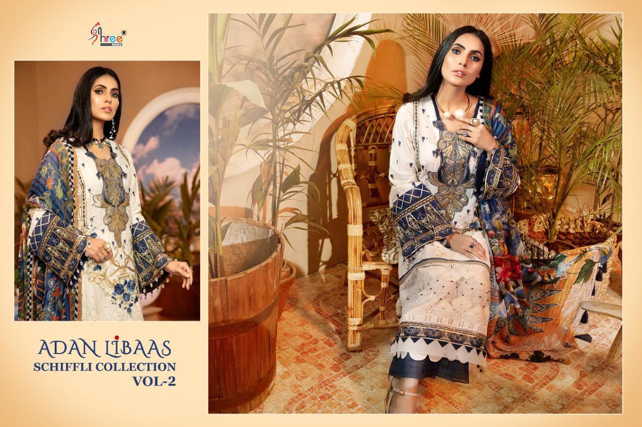 Shree Fabs Adan Libaas Schiffli Collection Vol 2 Salwar Suit Wholesale Catalog 6 Pcs 12 - Shree Fabs Adan Libaas Schiffli Collection Vol 2 Salwar Suit Wholesale Catalog 6 Pcs