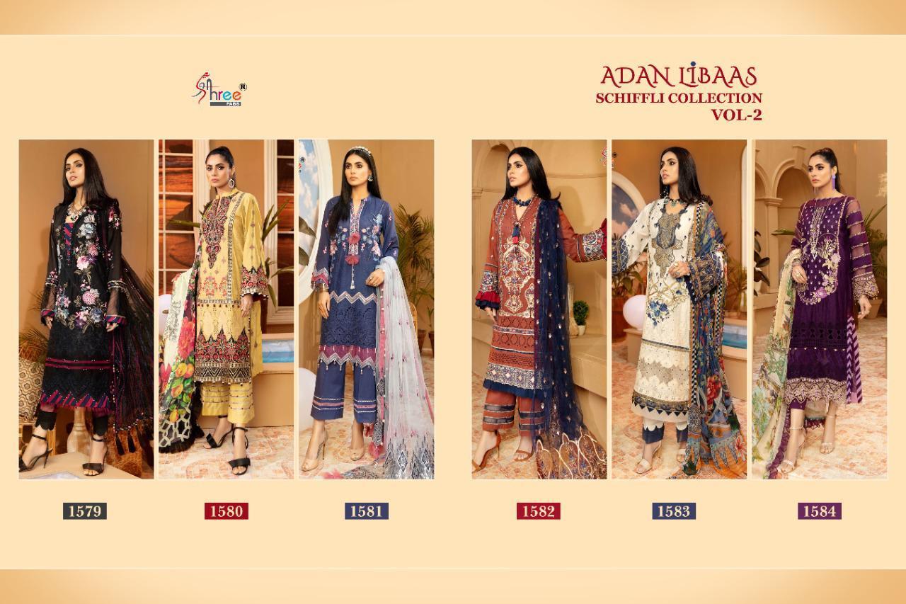 Shree Fabs Adan Libaas Schiffli Collection Vol 2 Salwar Suit Wholesale Catalog 6 Pcs 15 - Shree Fabs Adan Libaas Schiffli Collection Vol 2 Salwar Suit Wholesale Catalog 6 Pcs