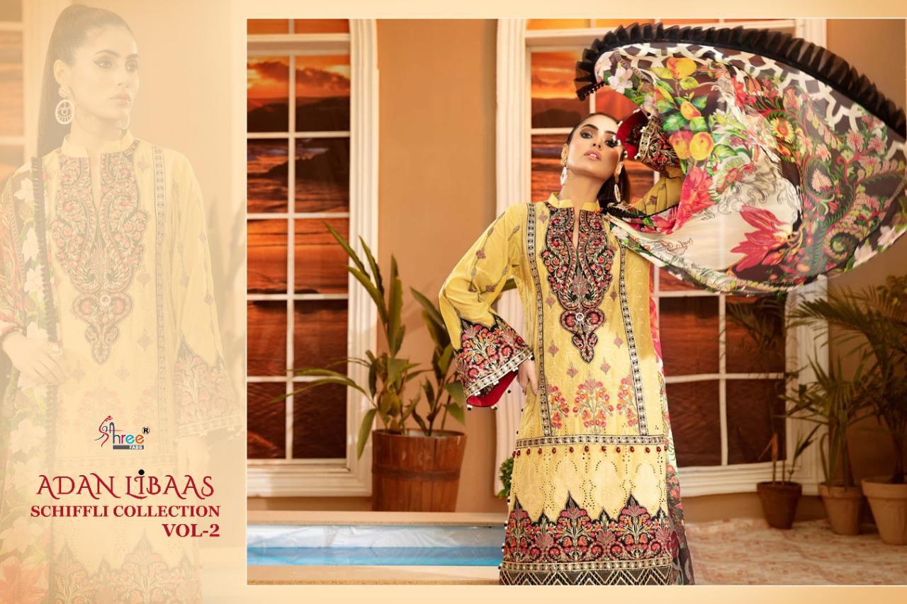 Shree Fabs Adan Libaas Schiffli Collection Vol 2 Salwar Suit Wholesale Catalog 6 Pcs 4 - Shree Fabs Adan Libaas Schiffli Collection Vol 2 Salwar Suit Wholesale Catalog 6 Pcs