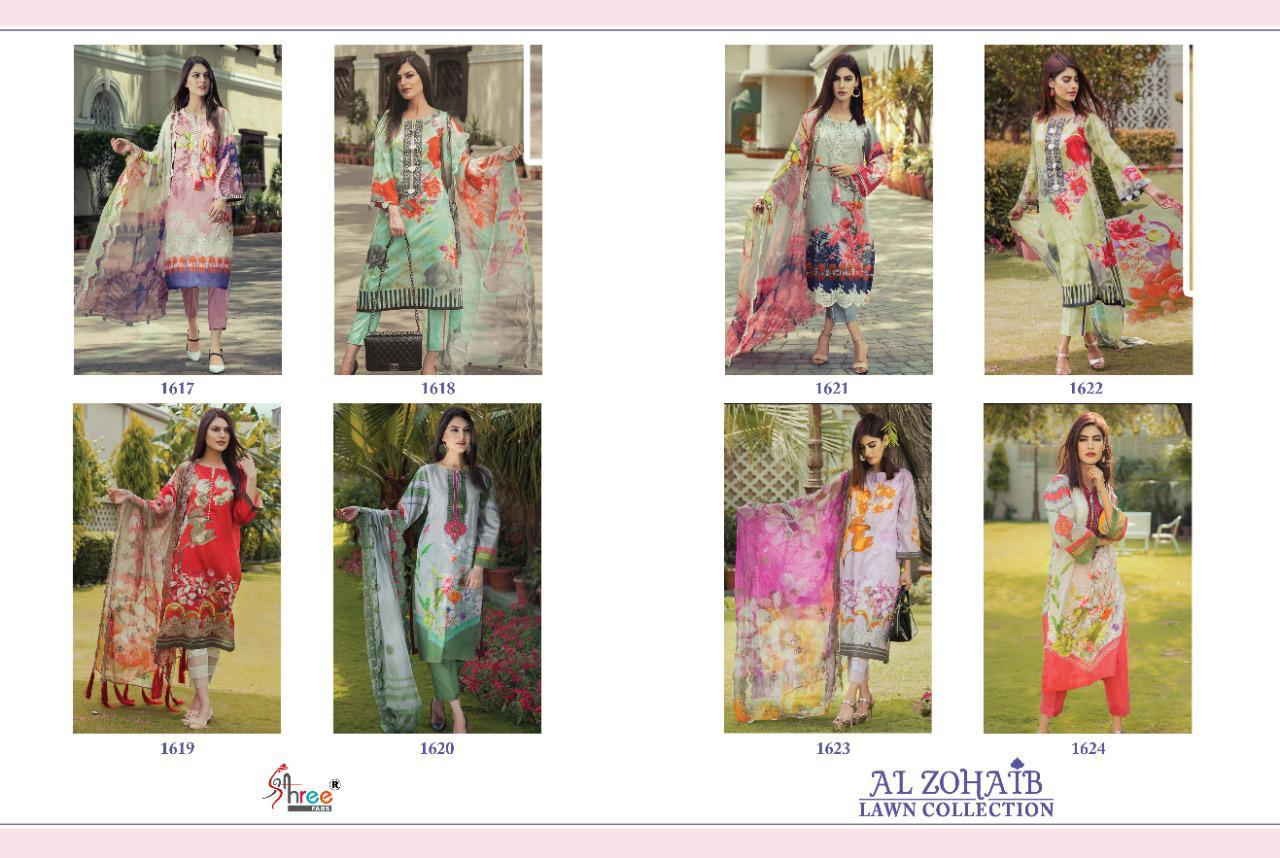 Shree Fabs Al Zohaib Lawn Collection Salwar Suit Wholesale Catalog 8 Pcs 10 - Shree Fabs Al Zohaib Lawn Collection Salwar Suit Wholesale Catalog 8 Pcs