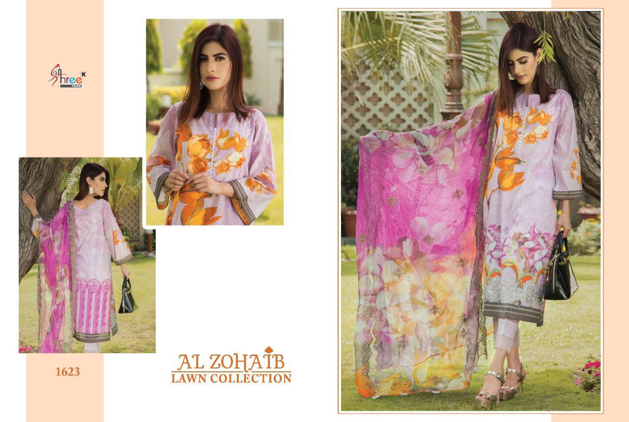 Shree Fabs Al Zohaib Lawn Collection Salwar Suit Wholesale Catalog 8 Pcs 2 - Shree Fabs Al Zohaib Lawn Collection Salwar Suit Wholesale Catalog 8 Pcs