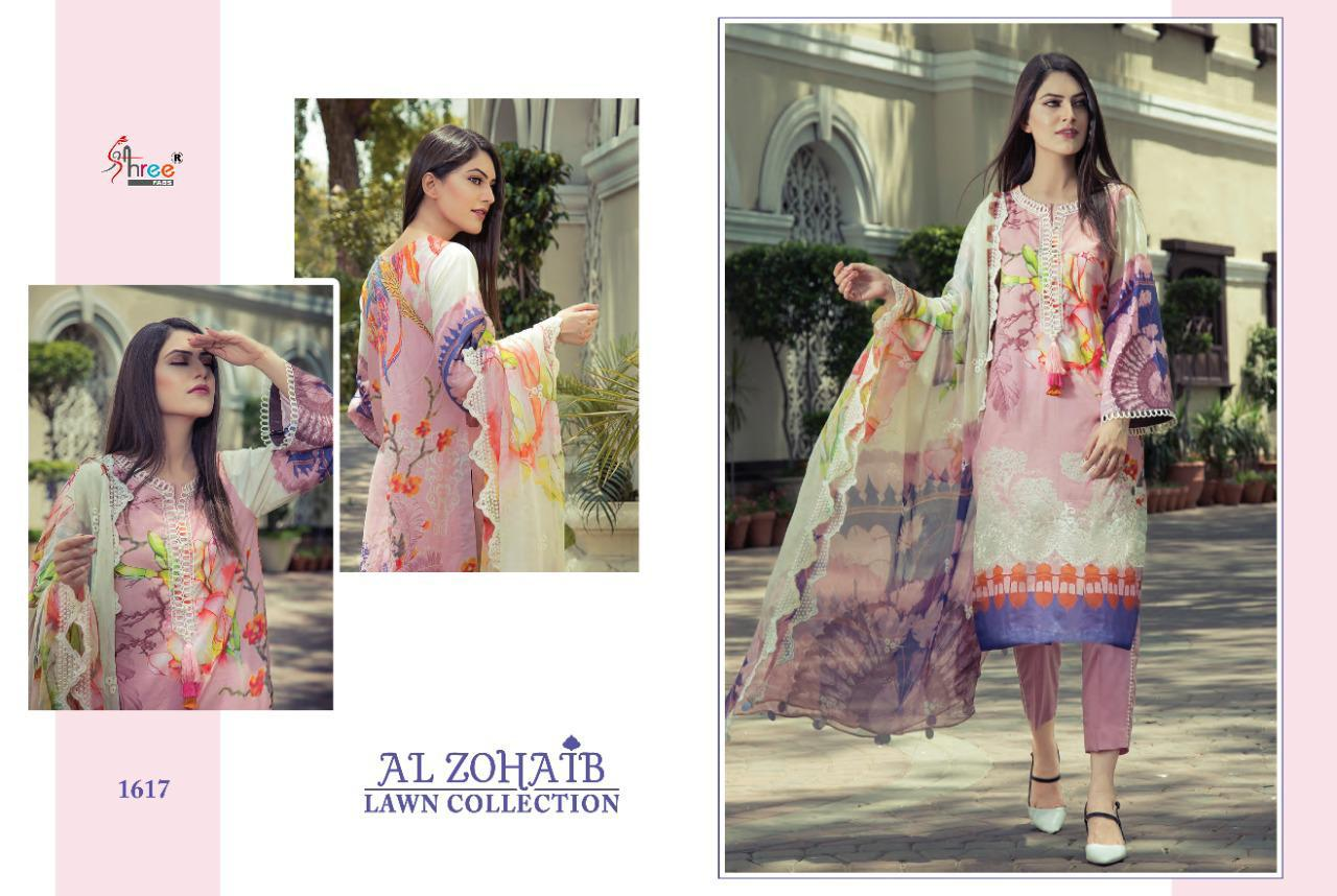 Shree Fabs Al Zohaib Lawn Collection Salwar Suit Wholesale Catalog 8 Pcs 3 - Shree Fabs Al Zohaib Lawn Collection Salwar Suit Wholesale Catalog 8 Pcs
