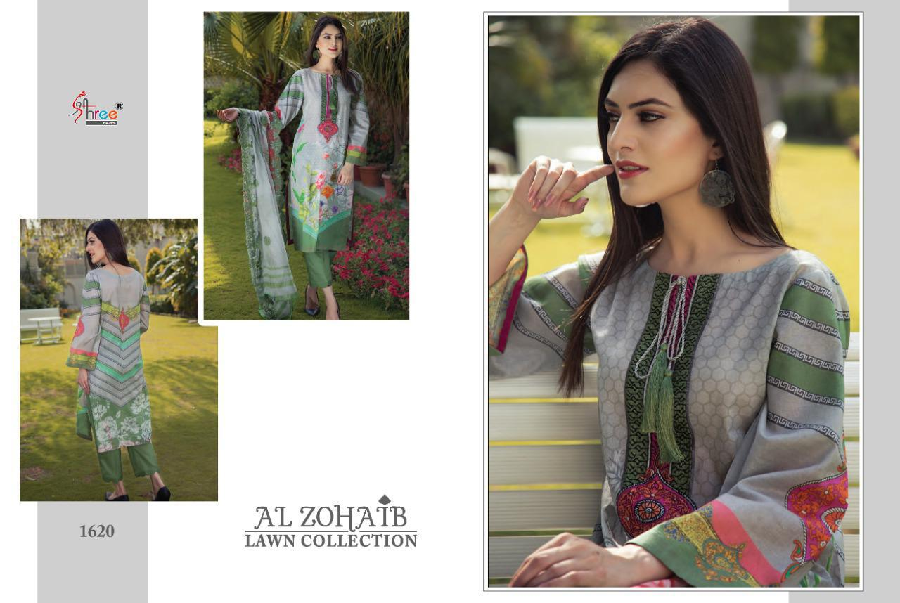 Shree Fabs Al Zohaib Lawn Collection Salwar Suit Wholesale Catalog 8 Pcs 4 - Shree Fabs Al Zohaib Lawn Collection Salwar Suit Wholesale Catalog 8 Pcs