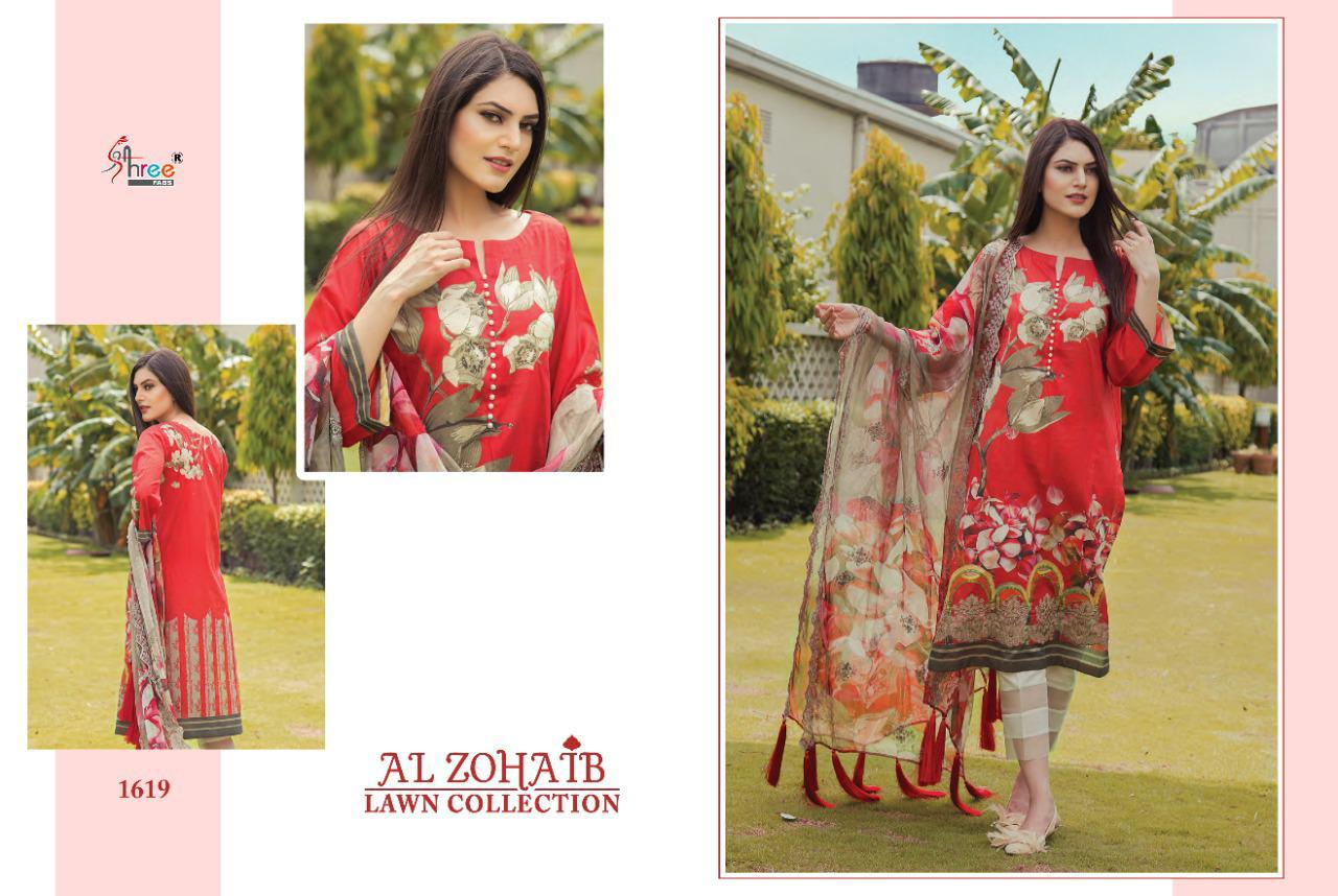Shree Fabs Al Zohaib Lawn Collection Salwar Suit Wholesale Catalog 8 Pcs 5 - Shree Fabs Al Zohaib Lawn Collection Salwar Suit Wholesale Catalog 8 Pcs