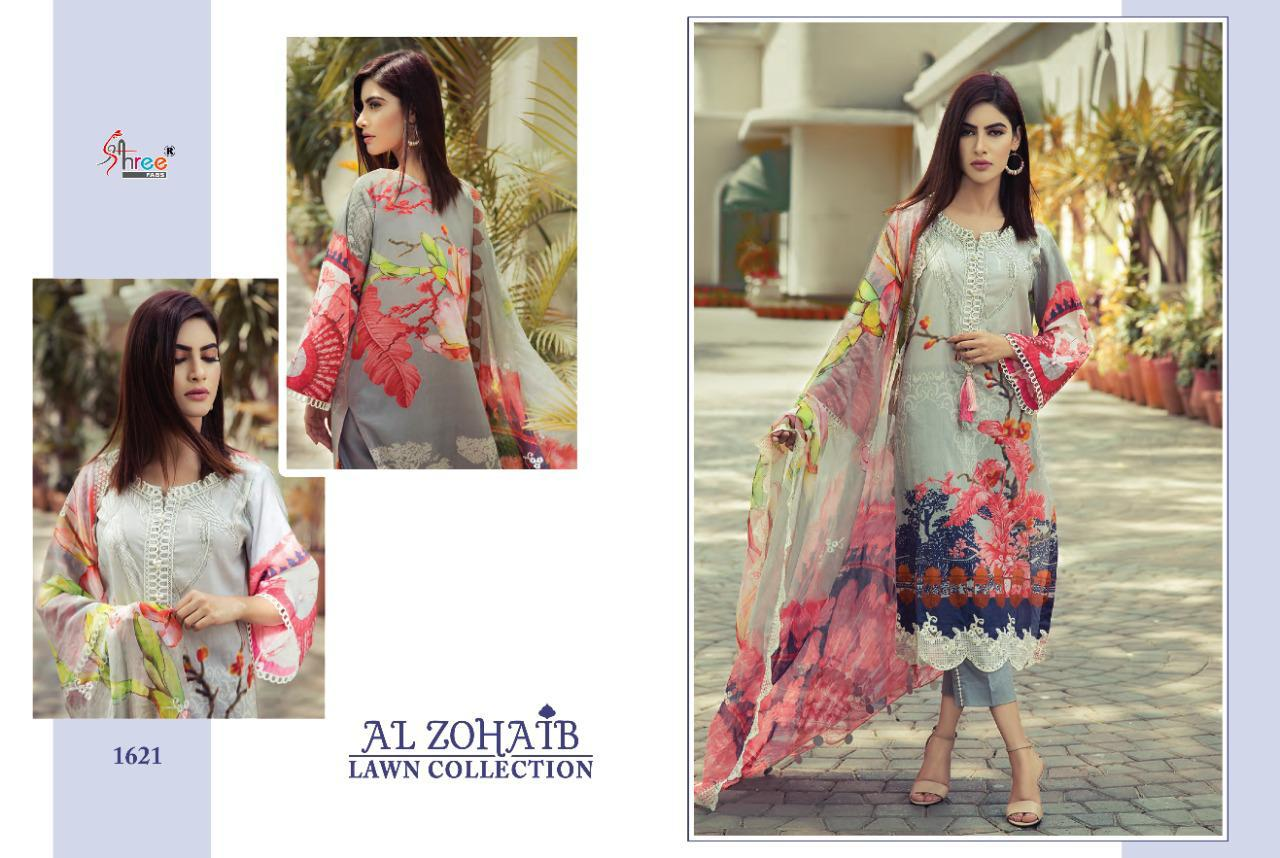 Shree Fabs Al Zohaib Lawn Collection Salwar Suit Wholesale Catalog 8 Pcs 6 - Shree Fabs Al Zohaib Lawn Collection Salwar Suit Wholesale Catalog 8 Pcs