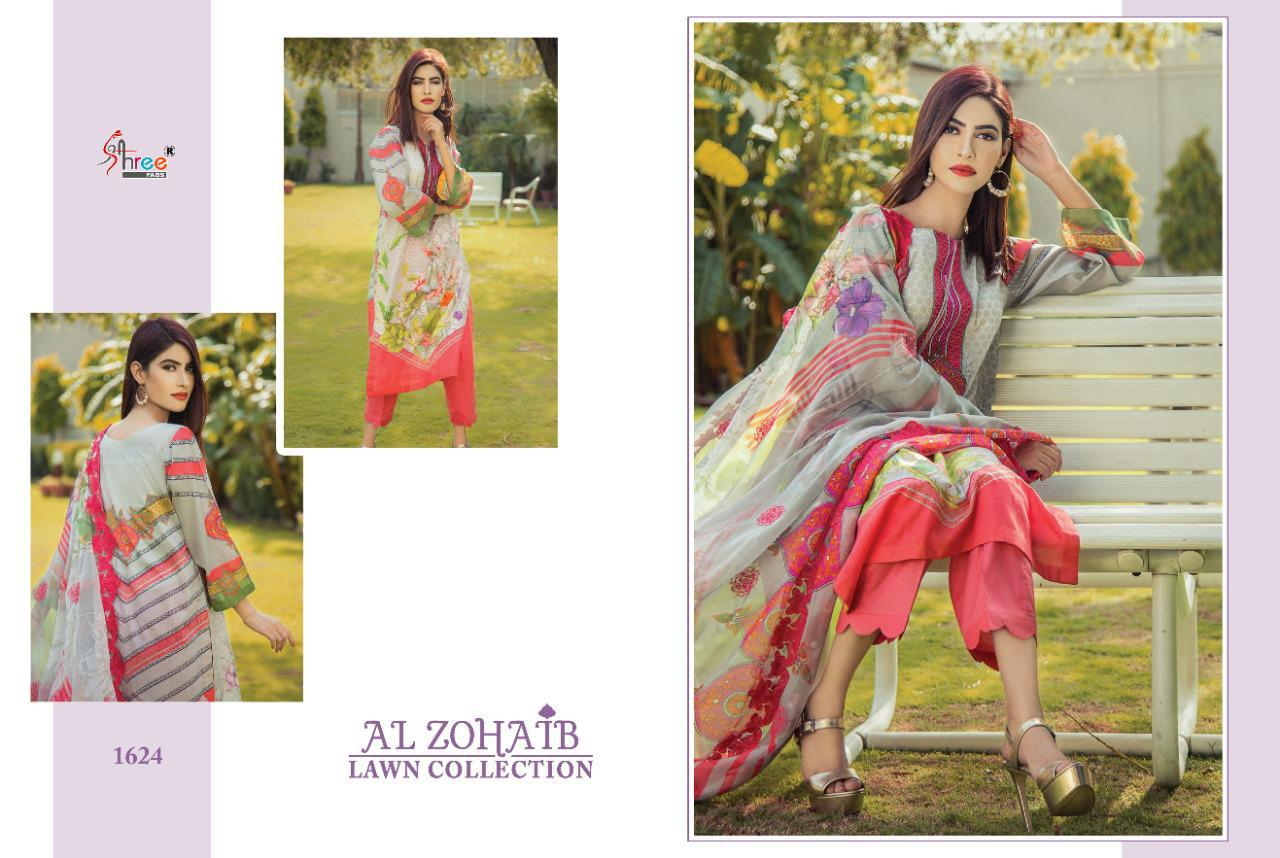 Shree Fabs Al Zohaib Lawn Collection Salwar Suit Wholesale Catalog 8 Pcs 7 - Shree Fabs Al Zohaib Lawn Collection Salwar Suit Wholesale Catalog 8 Pcs