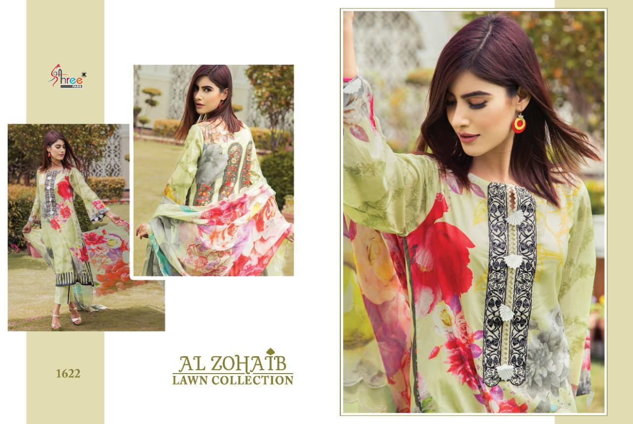 Shree Fabs Al Zohaib Lawn Collection Salwar Suit Wholesale Catalog 8 Pcs 8 - Shree Fabs Al Zohaib Lawn Collection Salwar Suit Wholesale Catalog 8 Pcs