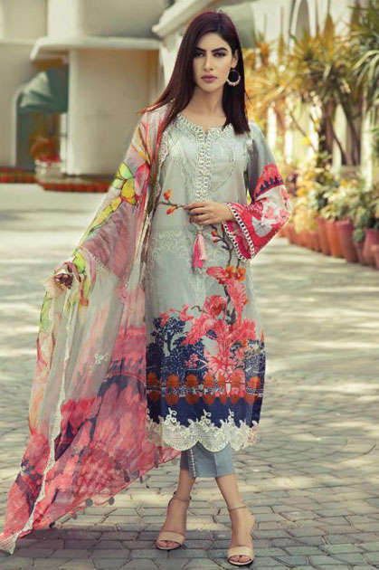 Shree Fabs Al Zohaib Lawn Collection Salwar Suit Wholesale Catalog 8 Pcs