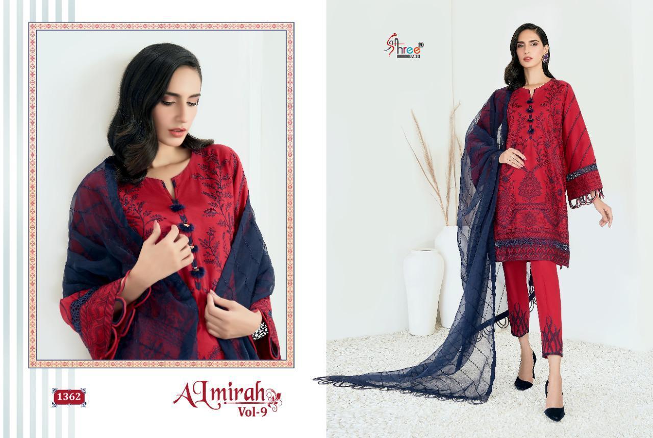 Shree Fabs Almirah Vol 9 Salwar Suit Wholesale Catalog 6 Pcs 2 - Shree Fabs Almirah Vol 9 Salwar Suit Wholesale Catalog 6 Pcs