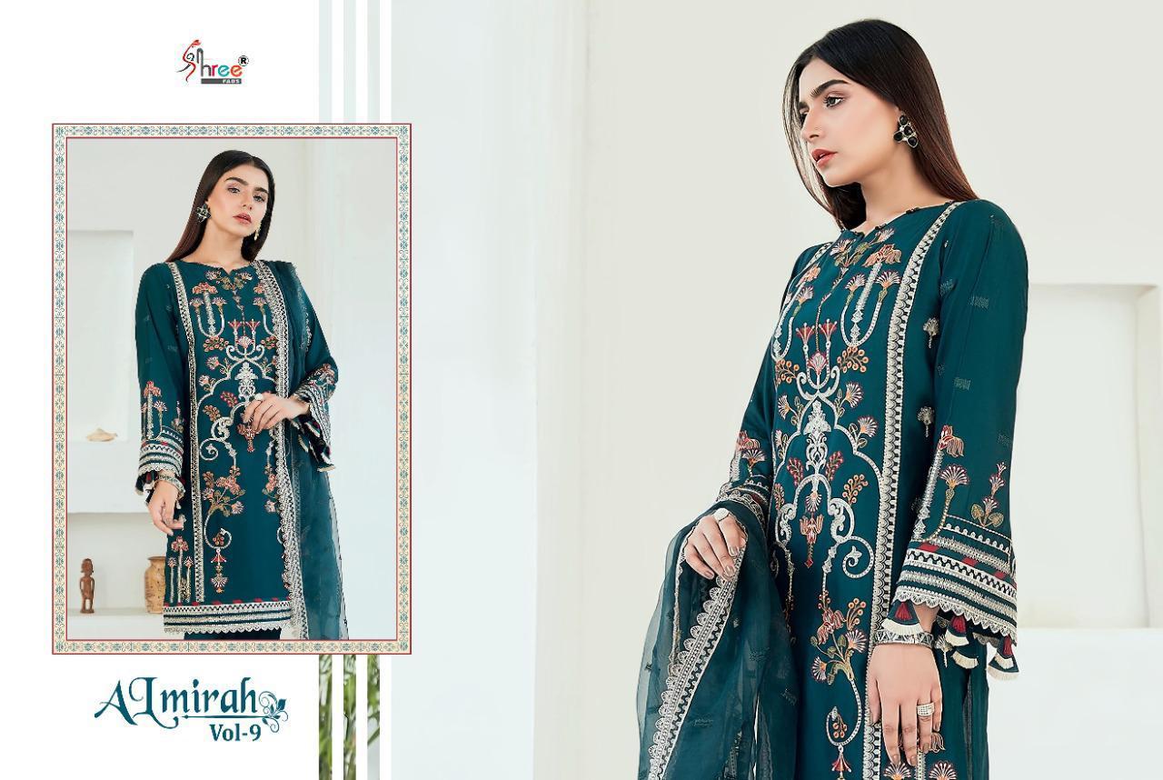 Shree Fabs Almirah Vol 9 Salwar Suit Wholesale Catalog 6 Pcs 9 - Shree Fabs Almirah Vol 9 Salwar Suit Wholesale Catalog 6 Pcs