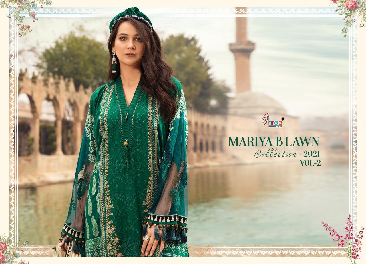 Shree Fabs Mariya B Lawn Collection 2021 Vol 2 Salwar Suit Wholesale Catalog 8 Pcs 10 - Shree Fabs Mariya B Lawn Collection 2021 Vol 2 Salwar Suit Wholesale Catalog 8 Pcs