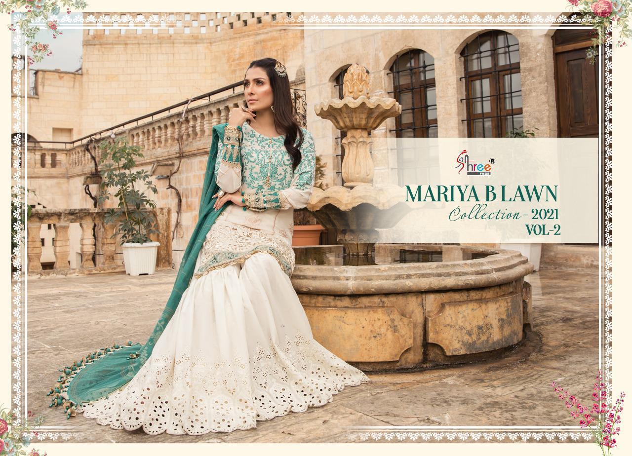 Shree Fabs Mariya B Lawn Collection 2021 Vol 2 Salwar Suit Wholesale Catalog 8 Pcs 18 - Shree Fabs Mariya B Lawn Collection 2021 Vol 2 Salwar Suit Wholesale Catalog 8 Pcs