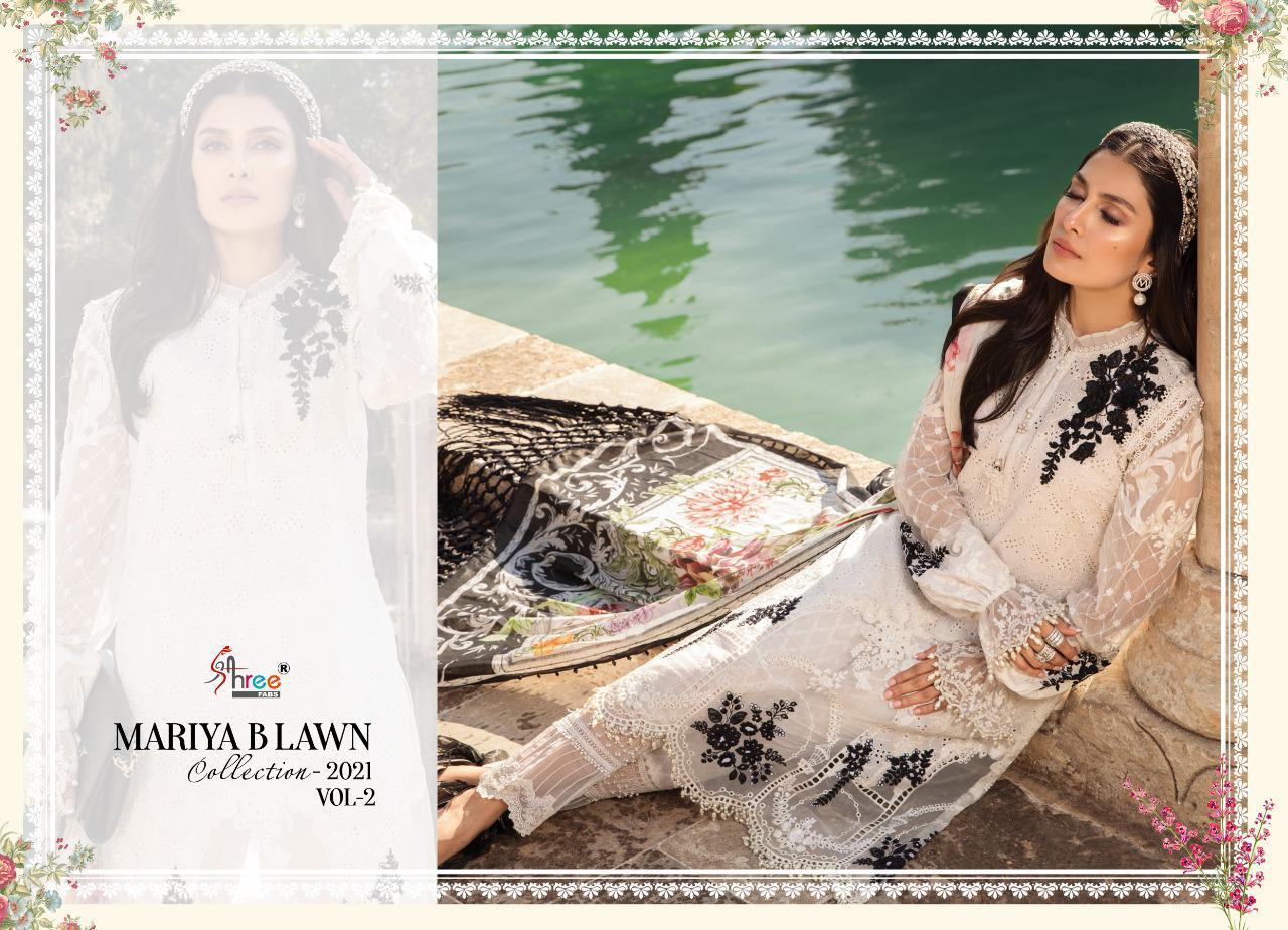 Shree Fabs Mariya B Lawn Collection 2021 Vol 2 Salwar Suit Wholesale Catalog 8 Pcs 7 - Shree Fabs Mariya B Lawn Collection 2021 Vol 2 Salwar Suit Wholesale Catalog 8 Pcs