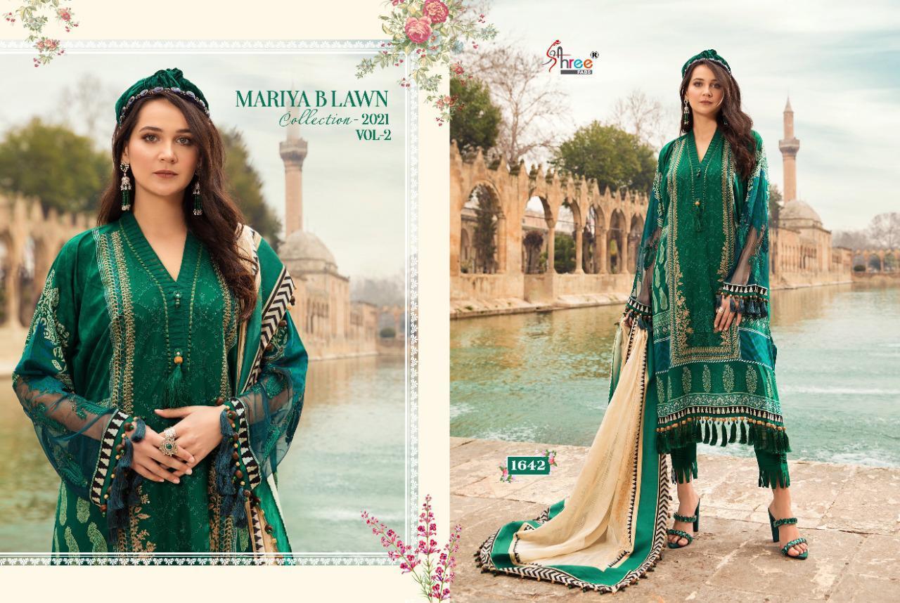 Shree Fabs Mariya B Lawn Collection 2021 Vol 2 Salwar Suit Wholesale Catalog 8 Pcs 9 - Shree Fabs Mariya B Lawn Collection 2021 Vol 2 Salwar Suit Wholesale Catalog 8 Pcs