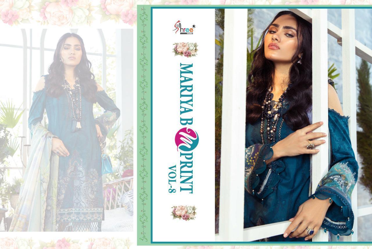 Shree Fabs Mariya B MPrint Vol 8 Salwar Suit Wholesale Catalog 9 Pcs 13 - Shree Fabs Mariya B MPrint Vol 8 Salwar Suit Wholesale Catalog 9 Pcs